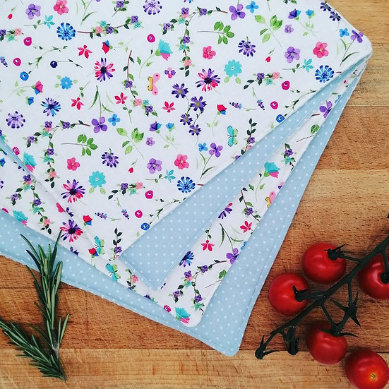 Spring Flowers Waffle Kitchen Towel Four Pack