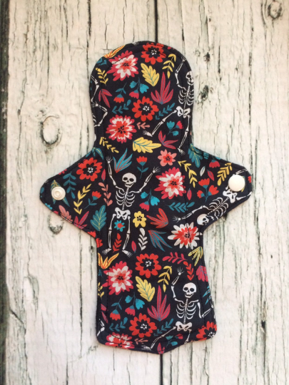 Day of the Dead Cloth Sanitary Pad