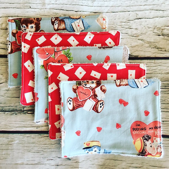 Be My Valentine Reusable Wipes Five Pack