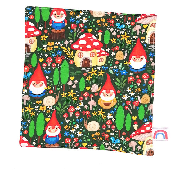 Garden Gnomes Waffle Kitchen Towel Four Pack