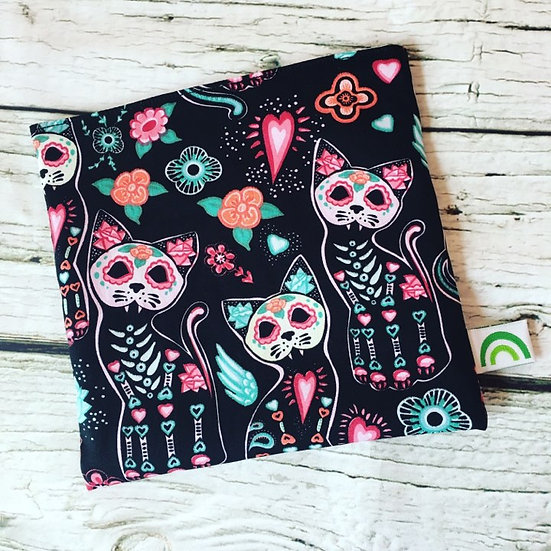 Day of the Dead Cats Reusable Sandwich Bag