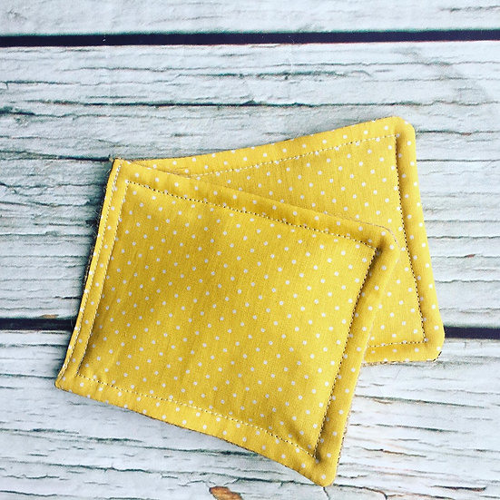 Plastic Free Dish Scrubber Yellow Spot Two Pack