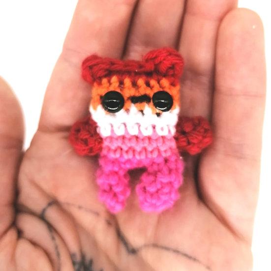 Pride Crochet Boop//Lesbian/Trans/Queer/Pan/Bi/Enby/Genderfluid/Asexual