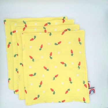 Carrots Waffle Kitchen Towel Four Pack