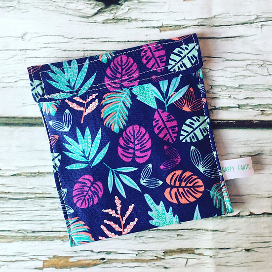 Tropical Leaves Travel Wetbag for Cloth Sanitary Pads