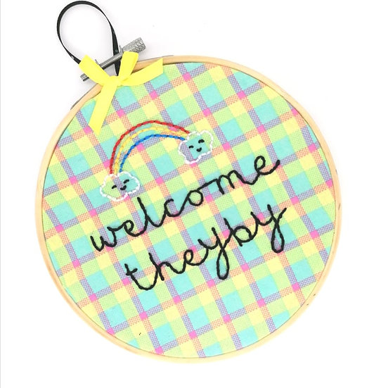 """Welcome Theyby 6"""" Embroidery Hoop"""