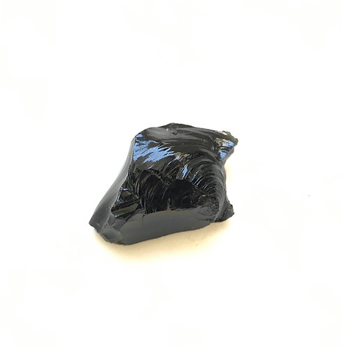 Obsidiana preta bruta