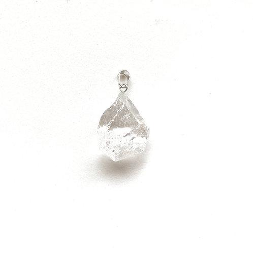 Pingente quartzo transparente bruto