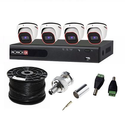 קיט 4 מצלמות אבטחה להתקנה עצמית 2 מגה פיקסל provision