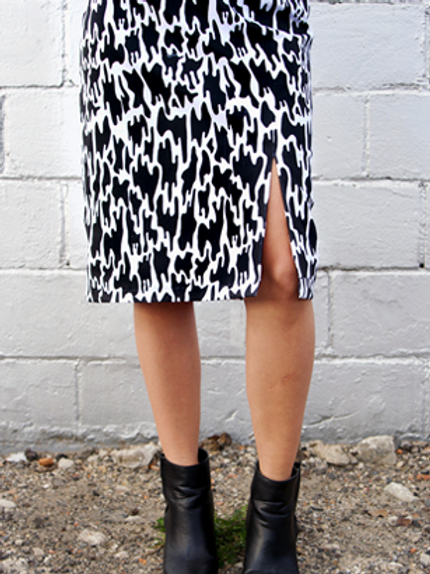 Slime Print Pencil Skirt