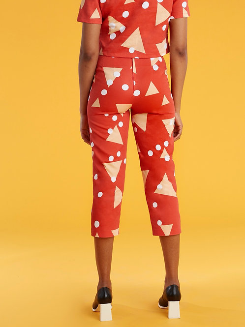 Red Triangle Pants