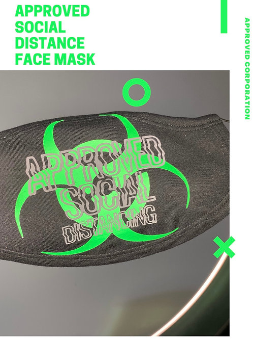 Approved Social Distance Face Mask