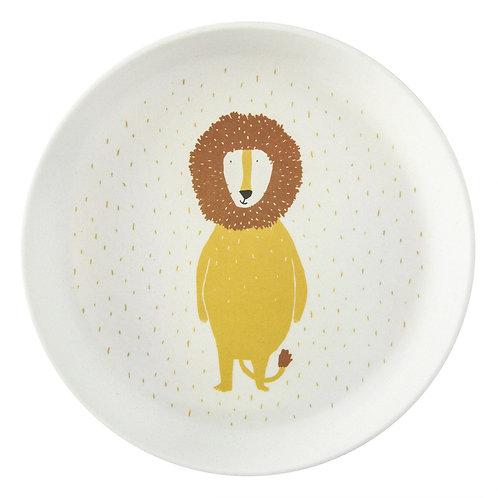 Assiette plate Lion