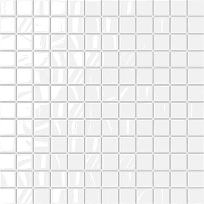 EL blanco 2.5x2.5 мозаика на сетке 30.5х30.5