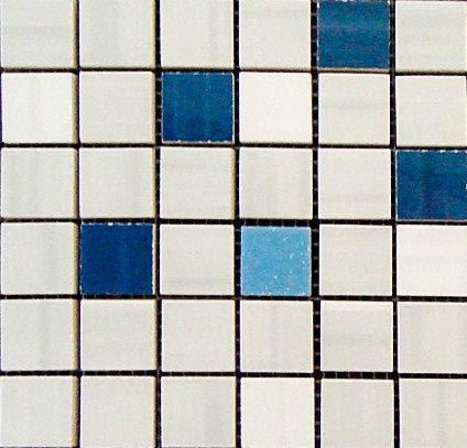 MOZ0004 мозаика 30.5х30.5 AL BLANCO - BLU 2.5x2.5