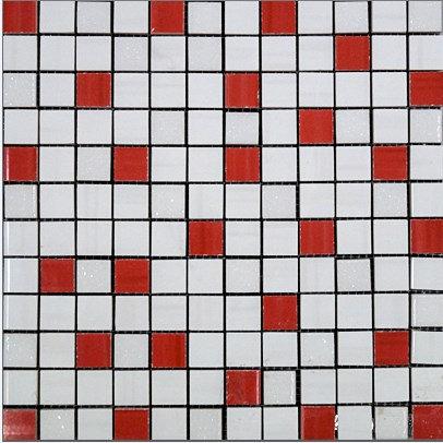 MOZ0021 мозаика 30.5х30.5 AL BLAN.-LAMP. GLIT. 2.5