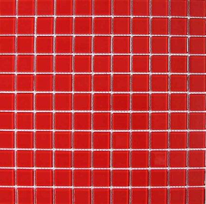 CE 2.5x2.5 rojo мозаика на сетке 30.5х30.5
