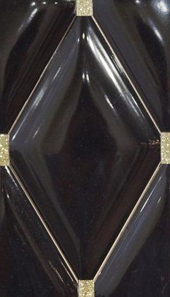 BP0072 Negro Gold 16x28 Rombos.