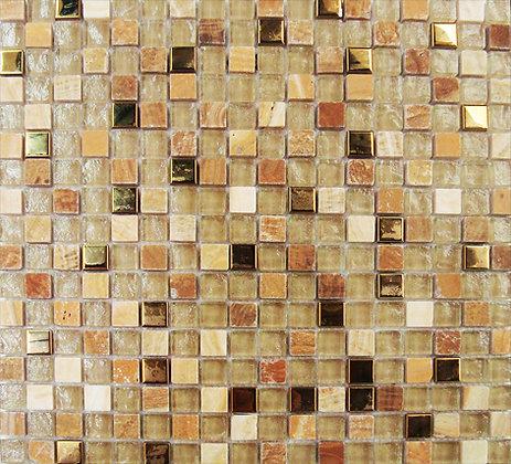 EQ 1.5x1.5 gold   мозаика на сетке 30х30