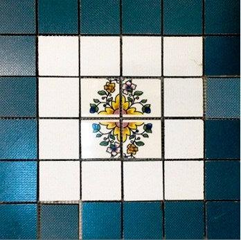 MOZ0043 мозаика 30.5х30.5 GF BLU - MAIOLIKA 5х5