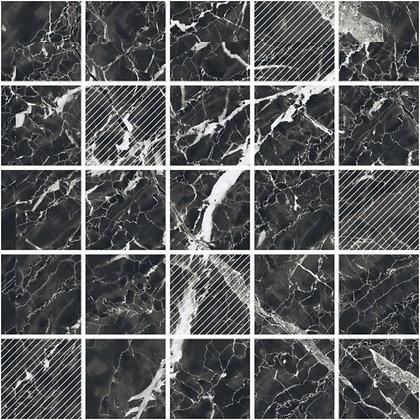LP мозаика 5х5 на сетке 30.5х30.5  negro