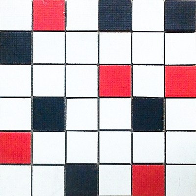 MOZ0031 мозаика 30.5х30.5 LP BLANCO-NEGRO-ROJO 5x5