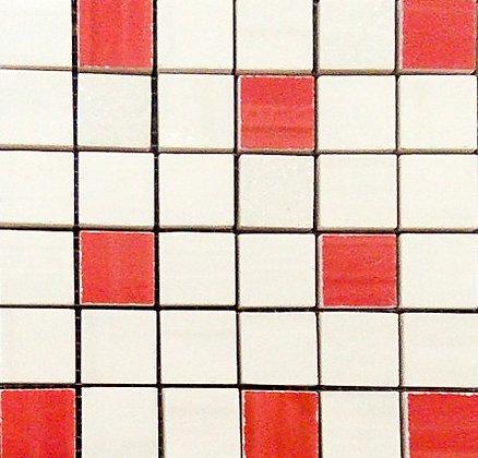 MOZ0029 мозаика 30.5х30.5 AL BLANCO - LAM. 2.5x2.5