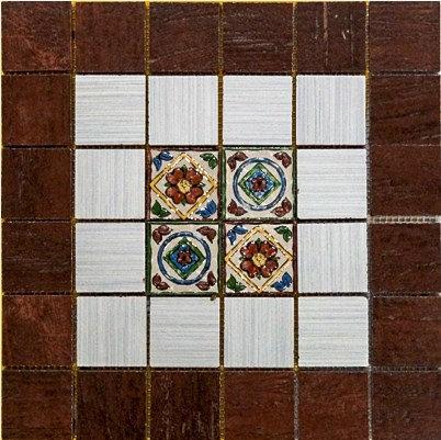 MOZ0128 мозаика 30.5х30.5 CE GELDO-FOST. DEC. MARO