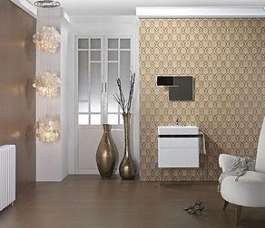 Инновационные производственные технологии, смелые и стильные дизайнерские решения, универсализация форматов безшовной керамической плитки под обои, позволяет создать интерьер в стиле барокко.