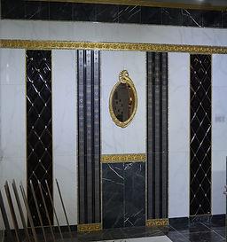 Произведена плитка для создания элитного и роскошного интерьера ванной комнаты или любого другого помещения.