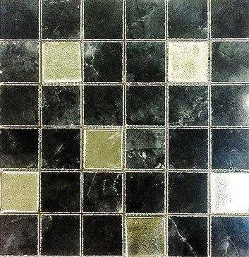 MOZ0048 мозаика 30.5х30.5 LP NEGRO GOLD GLASS 5x5