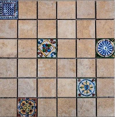 MOZ0129 мозаика 30.5х30.5 CE MET. DEC 5x5