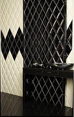 Декоративная керамическая плитка  в виде объемного  ромба позволит выгодно и ненавязчиво подчеркнуть достоинства любой базовой плитки, украсит любое помещение.