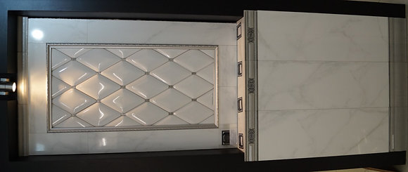 Nistery 30x90 Rombos blanco 16x29 silver