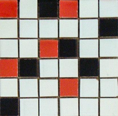 MOZ0008 мозаика 30.5х30.5 CE BLAN-NEG-ROJ 2.5x2.5