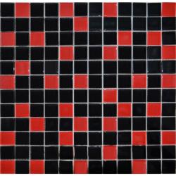CE 2.5x2.5 negro rojo мозаика на сетке 30.5х30.5