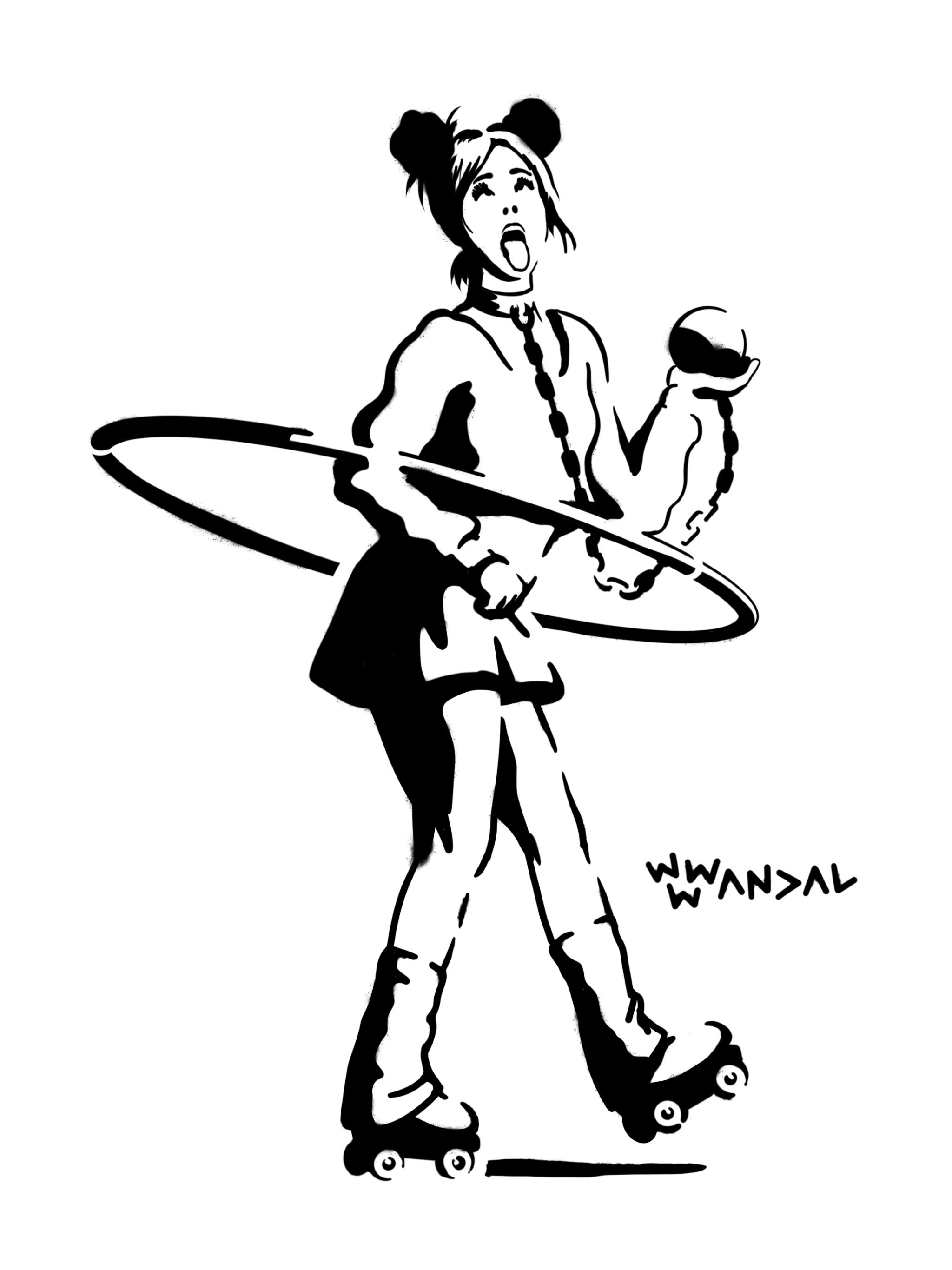 Hula Skater Girl