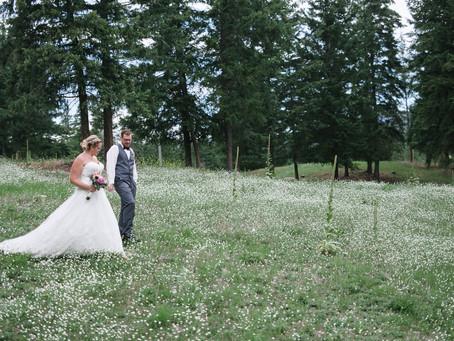 Corie-Anne & Aaron ~ Backyard Garden Wedding, Barriere BC