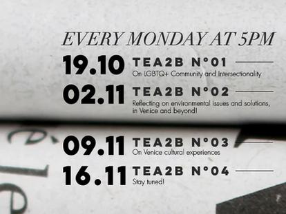 The TEA2B schedule is here!