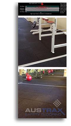 Rubber gym flooring, Perth, WA.