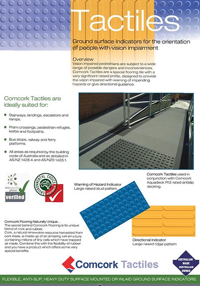 Tactiles, ground surface indicators