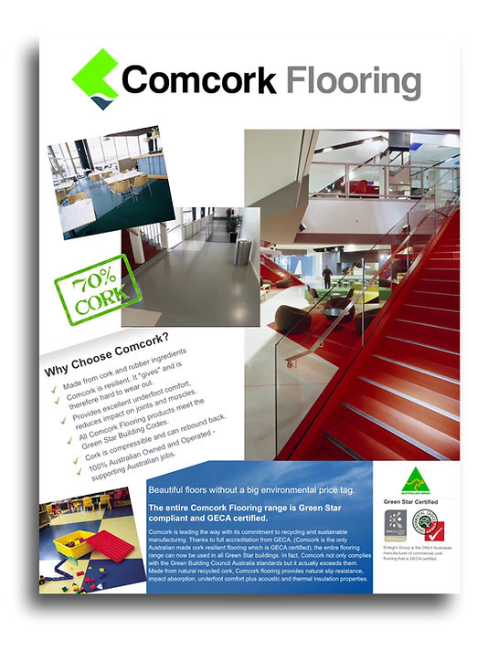 Comcork flooring range