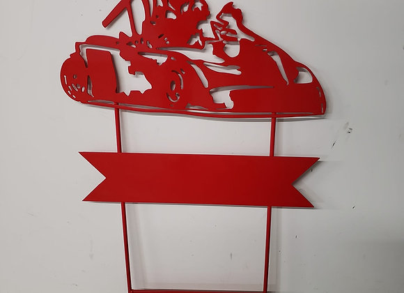 Metal Yard Sign Go Cart