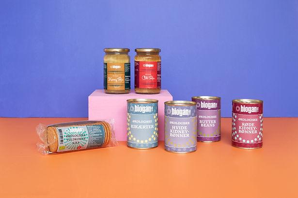 Etiketdesign Biogan konserves