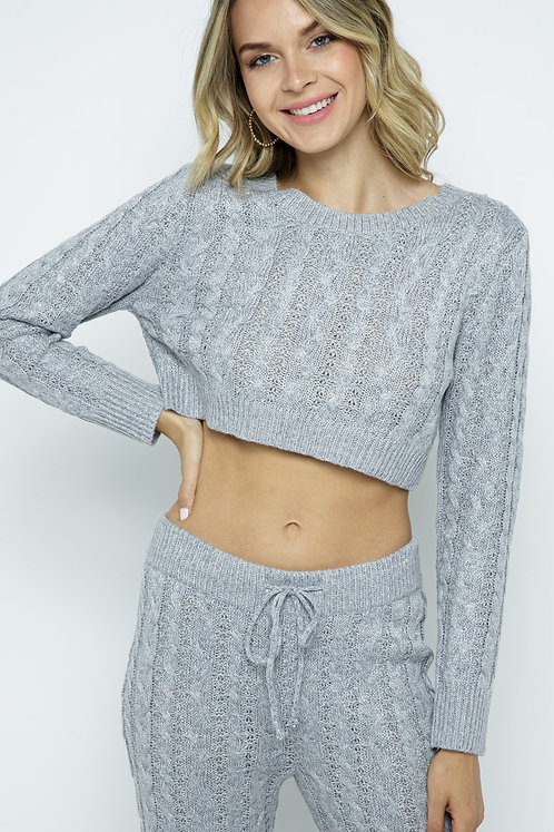 January Knit Crop Top