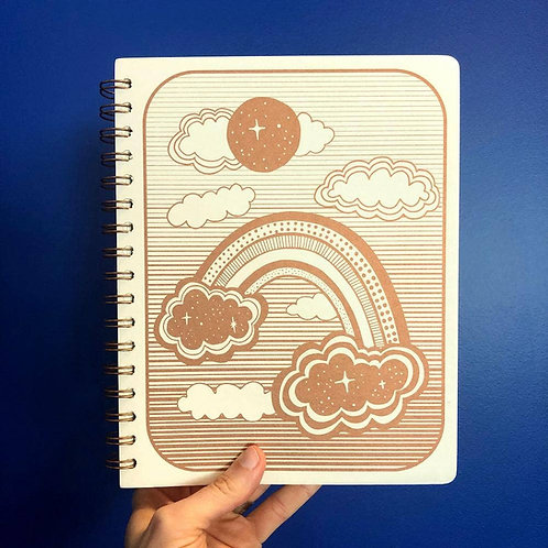 Space Rainbow Blank Journal