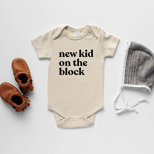New Kid On The Block Organic Onesie