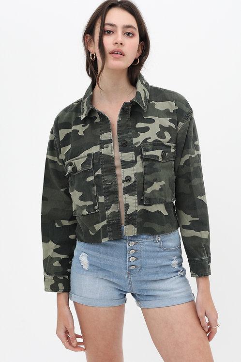 Sadie Camo Crop Jacket
