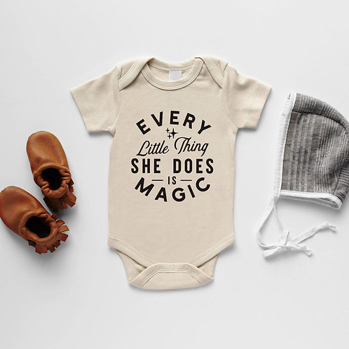 Every Little Thing She Does is Magic Organic Onesie