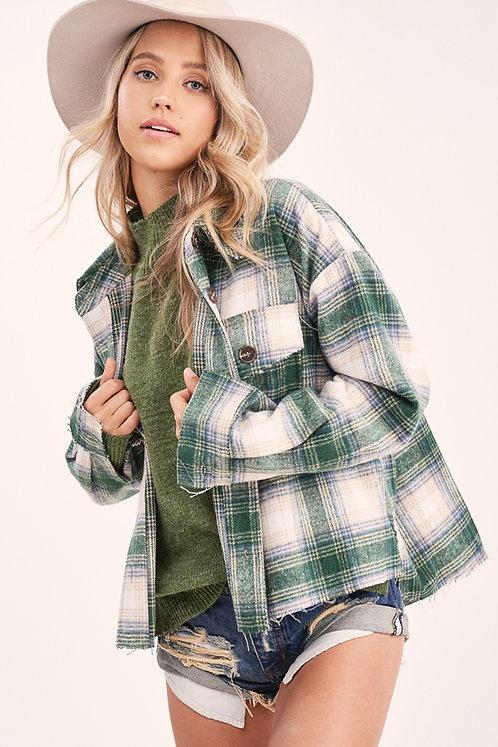 Green Fleece Fall Flannel